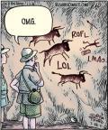 Cartoonist Dan Piraro  Bizarro 2011-07-18 ancient