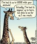 Cartoonist Dan Piraro  Bizarro 2011-08-13 giraffe