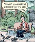 Cartoonist Dan Piraro  Bizarro 2011-10-05 Big Bird