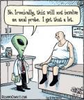 Cartoonist Dan Piraro  Bizarro 2011-10-31 space alien