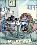 Cartoonist Dan Piraro  Bizarro 2011-11-04 planet