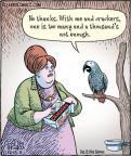 Cartoonist Dan Piraro  Bizarro 2011-12-13 bird food