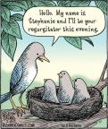 Cartoonist Dan Piraro  Bizarro 2012-02-17 bird food