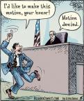 Cartoonist Dan Piraro  Bizarro 2012-02-27 courtroom