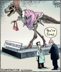 Cartoonist Dan Piraro  Bizarro 2012-03-08 dinosaur