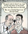 Cartoonist Dan Piraro  Bizarro 2012-08-14 wall