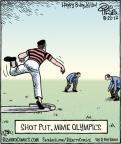 Cartoonist Dan Piraro  Bizarro 2012-08-22 athlete