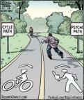 Cartoonist Dan Piraro  Bizarro 2012-11-10 road