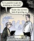 Cartoonist Dan Piraro  Bizarro 2012-11-27 side