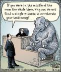 Cartoonist Dan Piraro  Bizarro 2012-12-04 justice