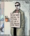 Cartoonist Dan Piraro  Bizarro 2012-12-07 worry