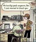 Cartoonist Dan Piraro  Bizarro 2013-01-17 speak