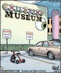 Cartoonist Dan Piraro  Bizarro 2013-01-26 museum