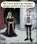 Cartoonist Dan Piraro  Bizarro 2013-02-01 Hamlet
