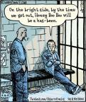 Cartoonist Dan Piraro  Bizarro 2013-04-16 side