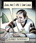 Cartoonist Dan Piraro  Bizarro 2013-04-24 backward