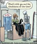Comic Strip Dan Piraro  Bizarro 2013-05-01 dry cleaner