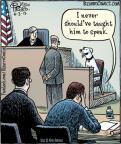 Cartoonist Dan Piraro  Bizarro 2013-06-03 courtroom