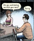 Cartoonist Dan Piraro  Bizarro 2013-07-12 single man