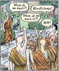 Comic Strip Dan Piraro  Bizarro 2013-08-23 Buddhism