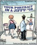 Cartoonist Dan Piraro  Bizarro 2013-09-19 painting