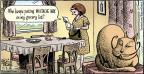 Cartoonist Dan Piraro  Bizarro 2013-11-03 cat hair
