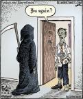 Cartoonist Dan Piraro  Bizarro 2013-11-18 visit