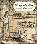Cartoonist Dan Piraro  Bizarro 2014-01-09 ancient
