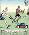Cartoonist Dan Piraro  Bizarro 2014-03-19 athlete