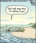 Cartoonist Dan Piraro  Bizarro 2014-04-03 away