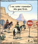 Cartoonist Dan Piraro  Bizarro 2014-06-10 road