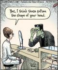 Cartoonist Dan Piraro  Bizarro 2014-07-01 shape