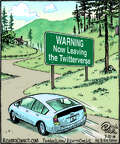 Cartoonist Dan Piraro  Bizarro 2014-07-22 road trip
