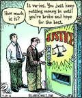 Cartoonist Dan Piraro  Bizarro 2014-07-24 justice