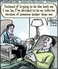 Cartoonist Dan Piraro  Bizarro 2014-10-14 than