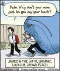 Cartoonist Dan Piraro  Bizarro 2014-10-20 organic fruit