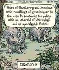 Cartoonist Dan Piraro  Bizarro 2015-04-23 dinosaur