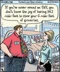 Cartoonist Dan Piraro  Bizarro 2015-07-16 big car