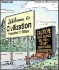 Cartoonist Dan Piraro  Bizarro 2016-09-27 man