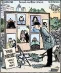Cartoonist Dan Piraro  Bizarro 2017-01-13 painting
