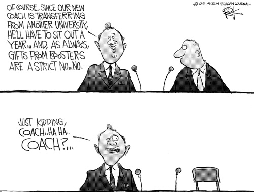 Chip Bok  Chip Bok's Editorial Cartoons 2005-01-06 coach