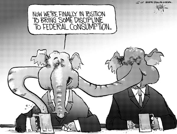 Chip Bok  Chip Bok's Editorial Cartoons 2005-02-09 federal budget