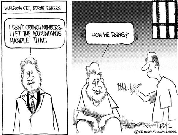 Cartoonist Chip Bok  Chip Bok's Editorial Cartoons 2005-03-18 accounting