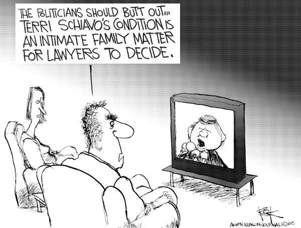 Cartoonist Chip Bok  Chip Bok's Editorial Cartoons 2005-03-24 legislation