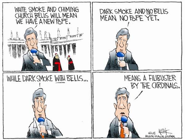 Cartoonist Chip Bok  Chip Bok's Editorial Cartoons 2005-04-07 filibuster