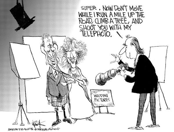 Cartoonist Chip Bok  Chip Bok's Editorial Cartoons 2005-04-11 camera