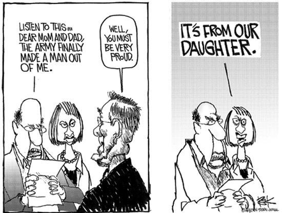 Cartoonist Chip Bok  Chip Bok's Editorial Cartoons 2004-05-10 prison