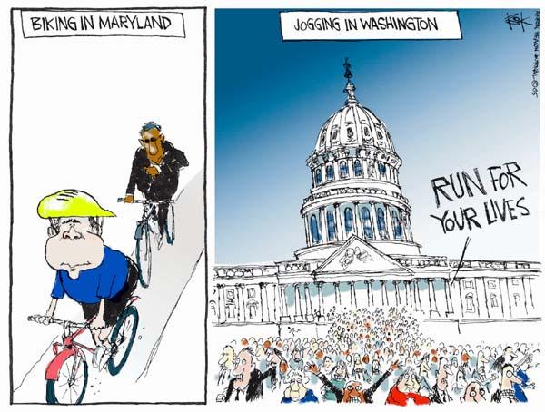 Cartoonist Chip Bok  Chip Bok's Editorial Cartoons 2005-05-13 breach
