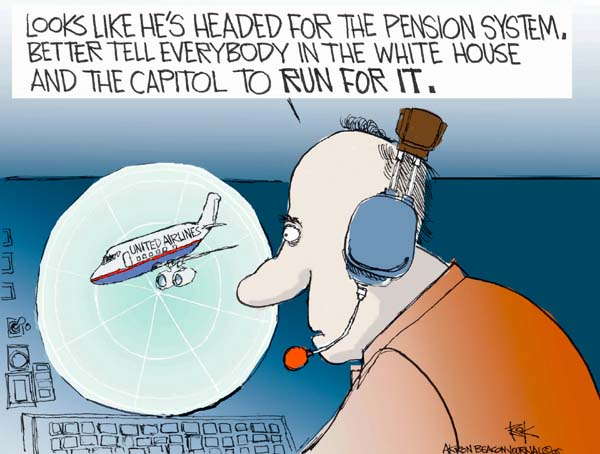 Chip Bok  Chip Bok's Editorial Cartoons 2005-05-16 White House security