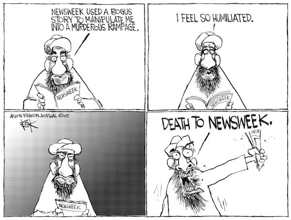 Cartoonist Chip Bok  Chip Bok's Editorial Cartoons 2005-05-18 feel